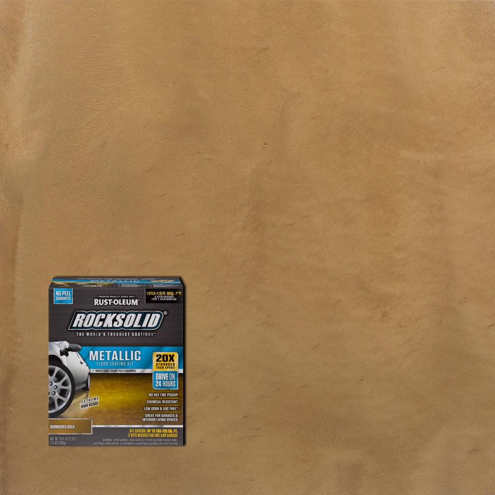 Floor Paint Home Depot 70 Oz Metallic Burnished Gold Garage Floor Kit 2 Pack