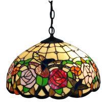 Amora Lighting Tiffany Style 2-Light Hummingbirds Floral ...