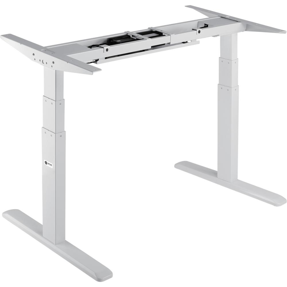 Sit To Stand Desk Star Ergonomics Black Electric Sit Stand Desk Frame 3 Stage Dual Motor Table Top Not Included
