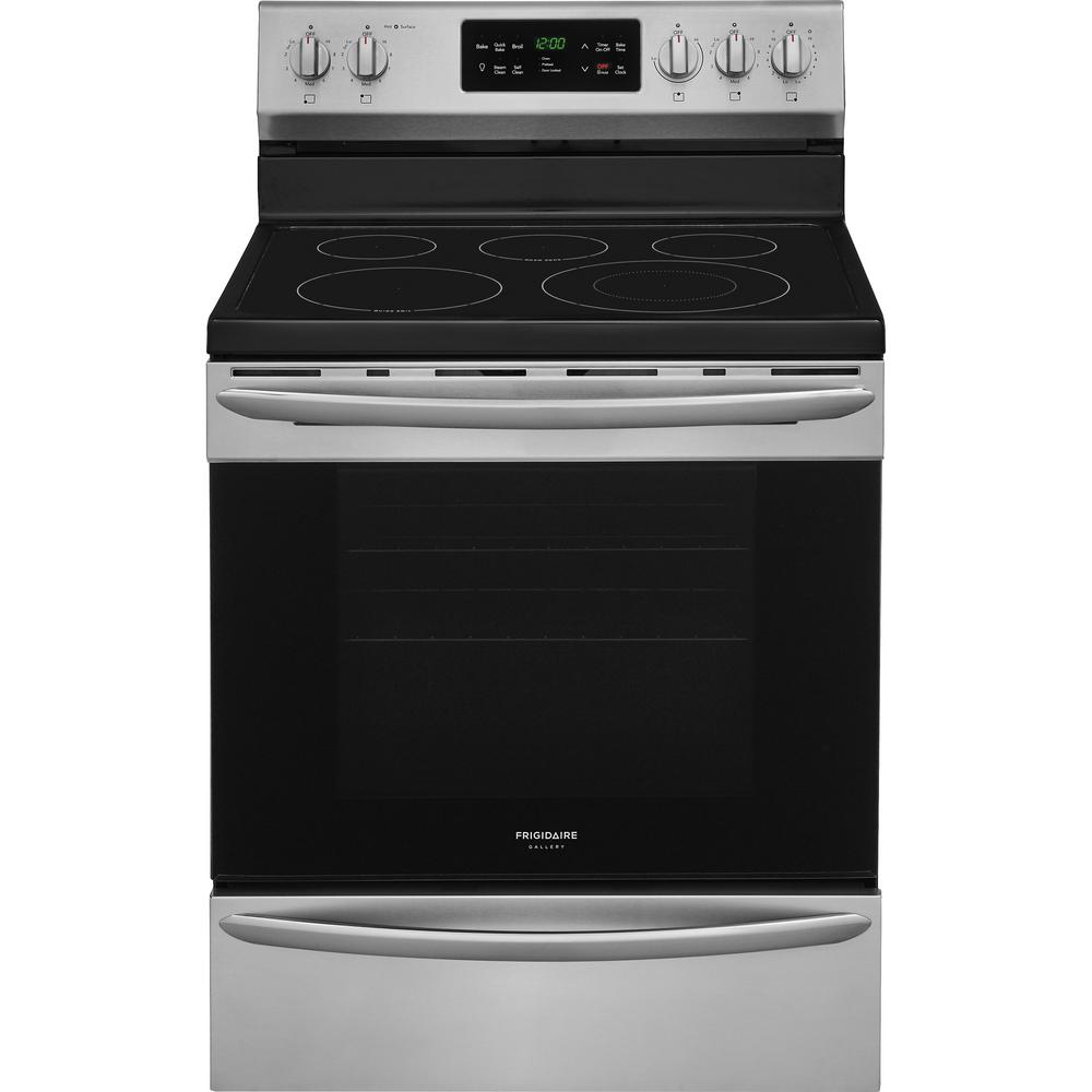 Frigidaire Stove Parts Canada Frigidaire Gallery 30 In 5 4 Cu Ft Single Oven Electric Range With Self Cleaning Convection Oven In Stainless Steel
