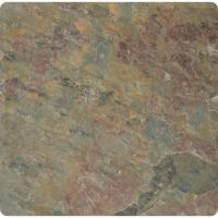 MS International Multi Color 4 in. x 4 in. Tumbled Slate ...