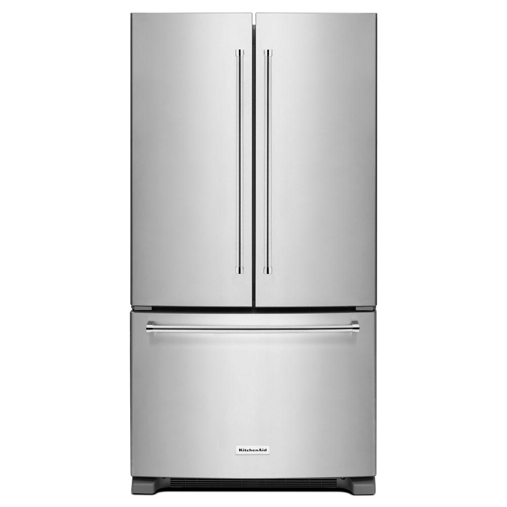 Kitchenaid Krfc300ess Kitchenaid 20 Cu Ft French Door Refrigerator In Stainless Steel Counter Depth