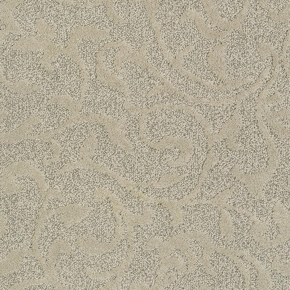 Patterned Carpet Lifeproof Carpet Sample Swirling Vines Color Classic Touch Pattern 8 In X 8 In