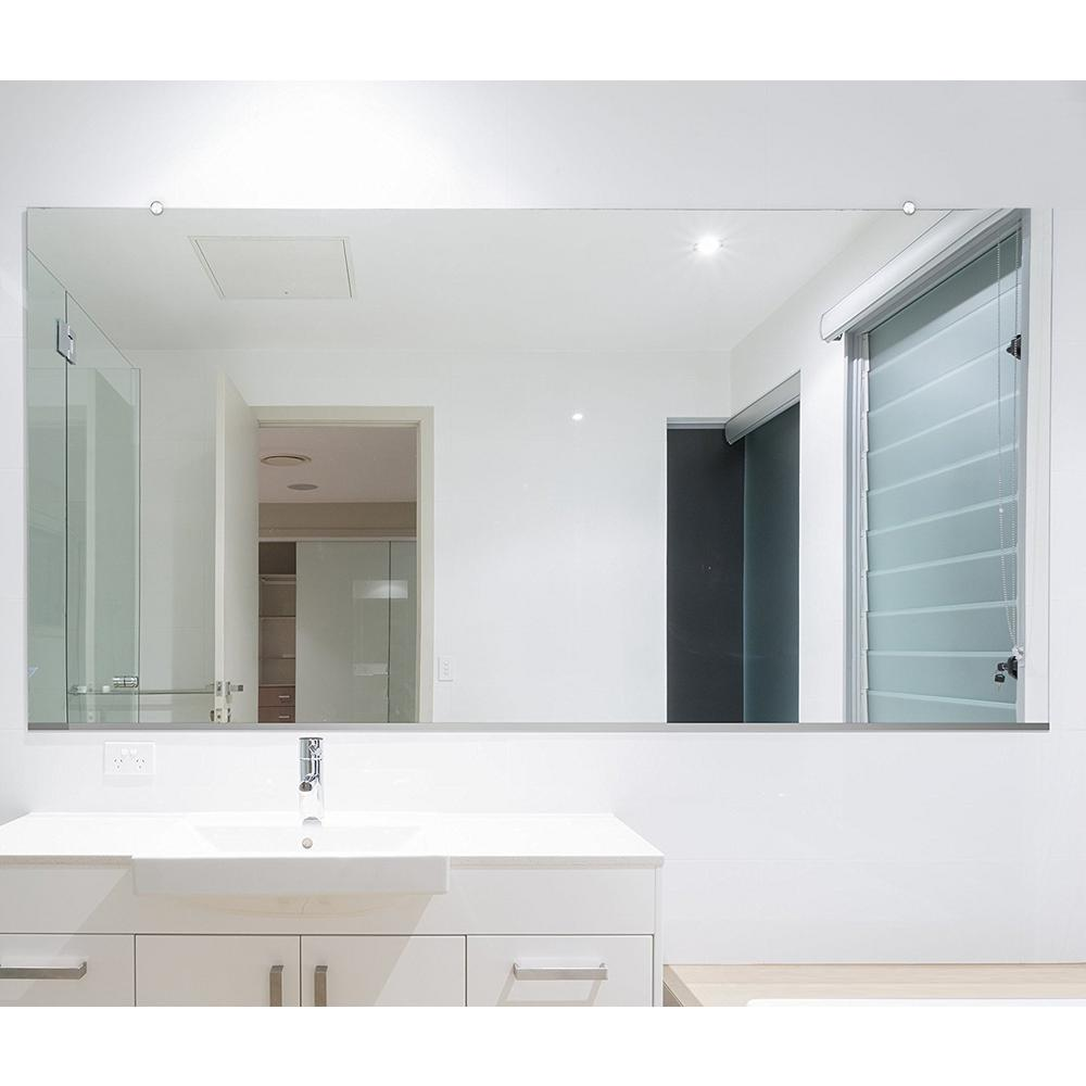 Frameless Mirror Canada Fab Glass And Mirror 48 In X 60 In Rectangle Frameless Flat