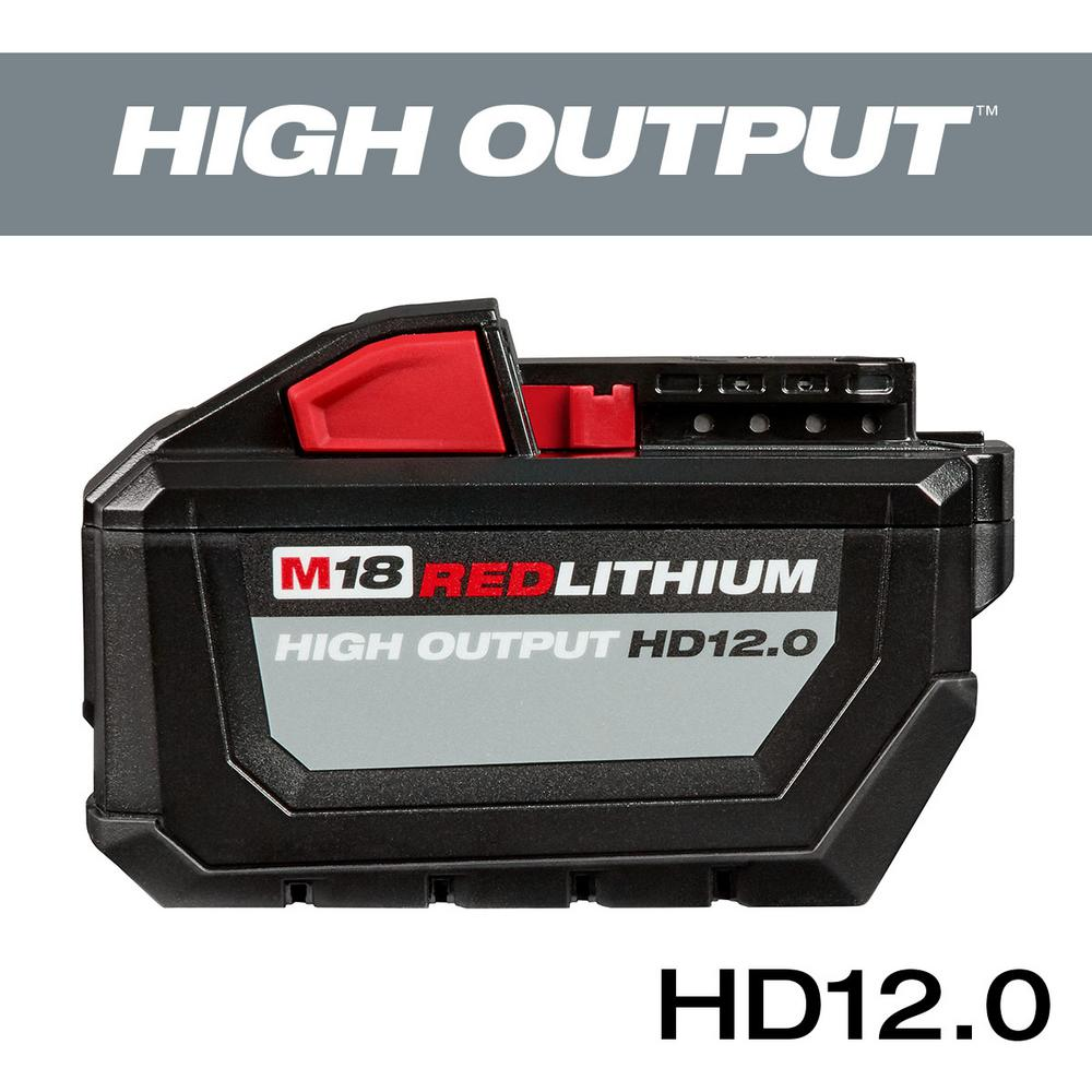 Milwaukee M18 Battery Milwaukee M18 18 Volt Lithium Ion High Output Battery Pack 12 0ah