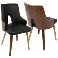 Lumisource Stella Mid-Century Walnut and Black Modern ...