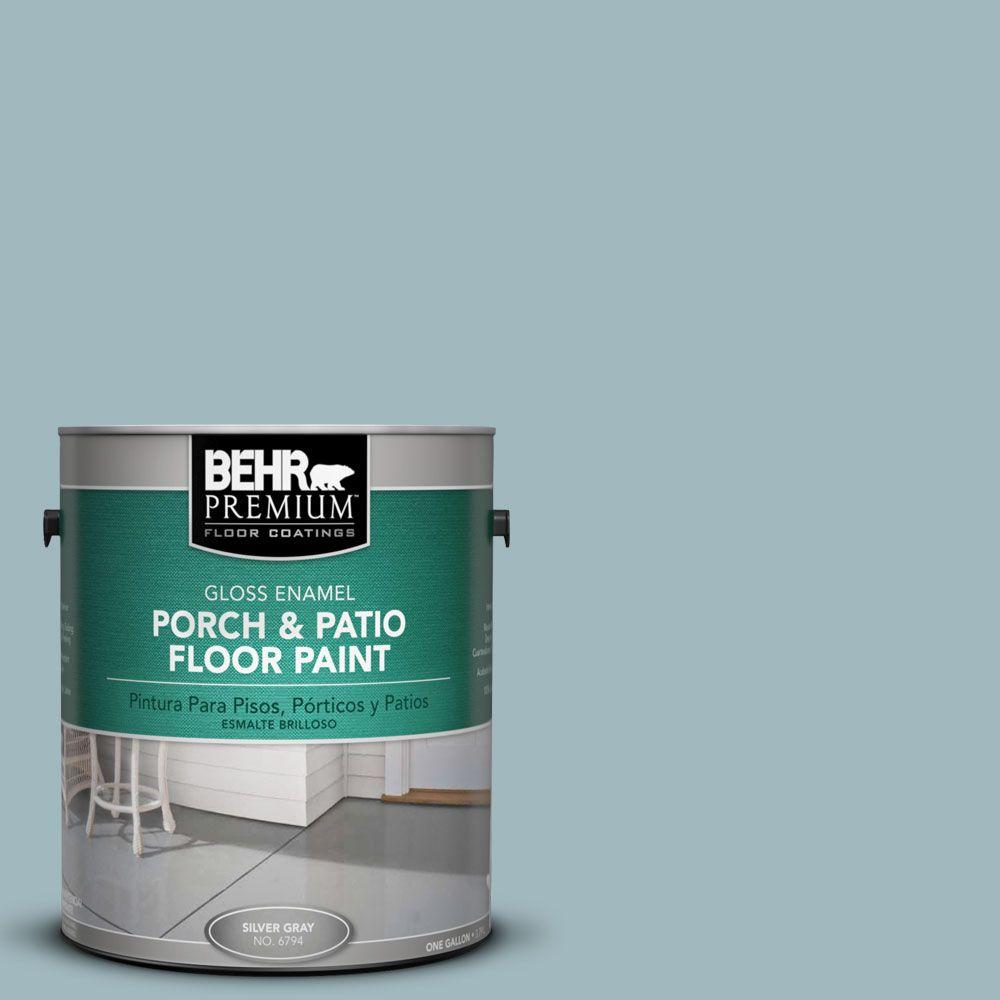 Nautical Paint Colors 1 Gal Pfc 51 Nautical Blue Gloss Interior Exterior Porch And Patio Floor Paint