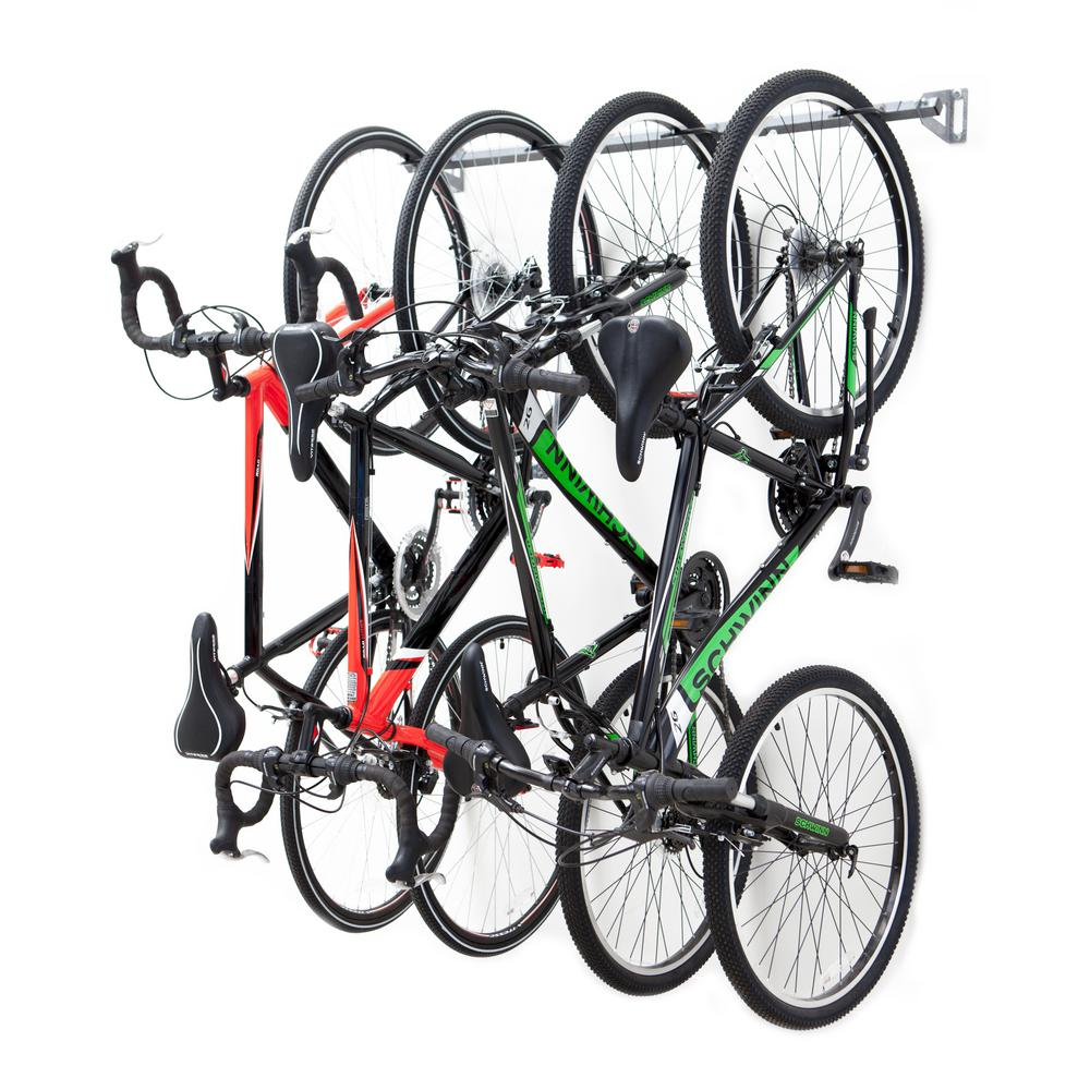 Bike Rack For The Garage Monkey Bars 51 In 4 Bike Storage Rack