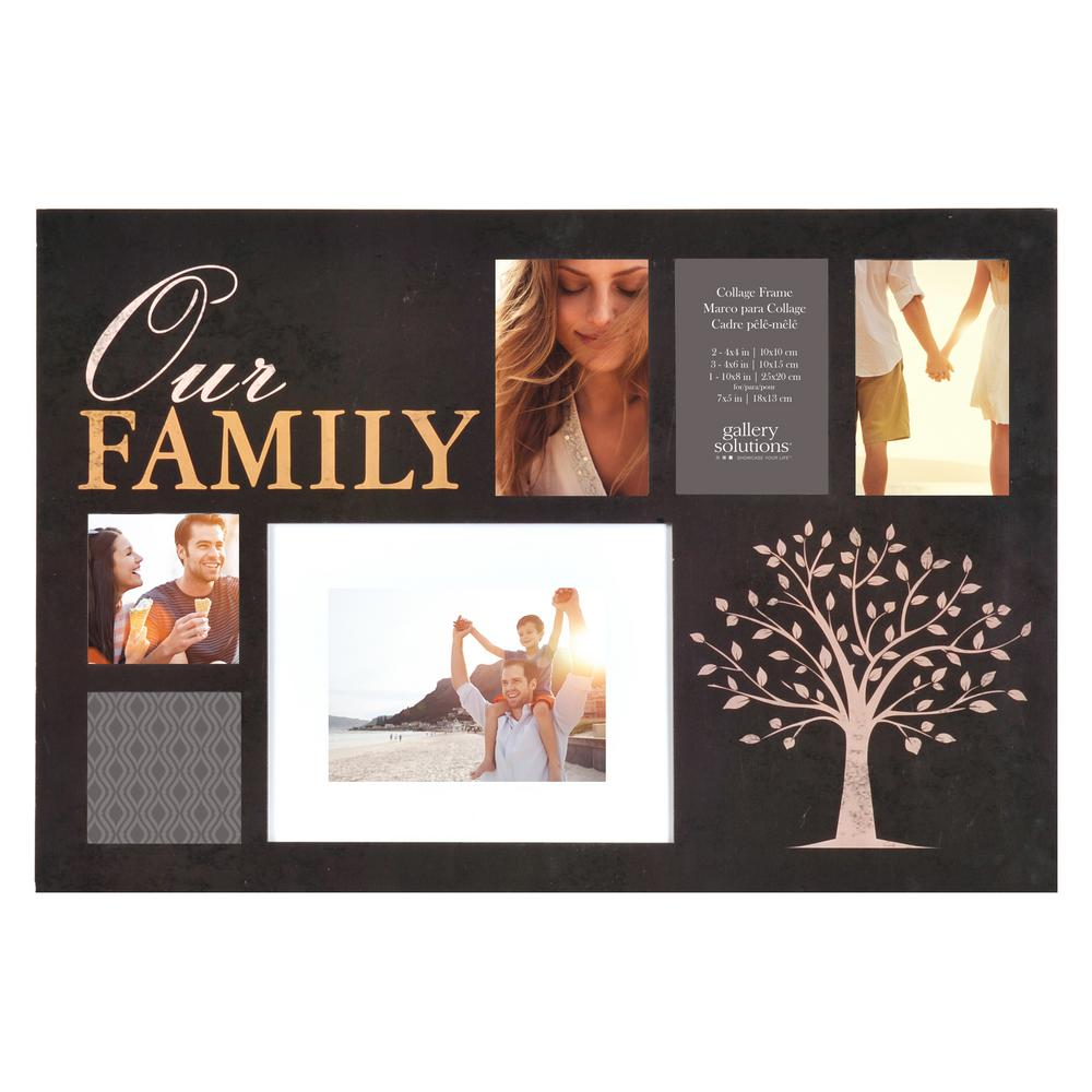 Cadre Photo Multiple Pinnacle 6 Opening 4 In X 6 In Family Picture Frame