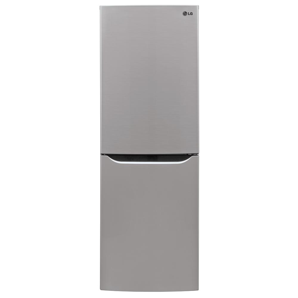 Home Depot Fridges Canada Lg Electronics 23 5 In W 10 1 Cu Ft Bottom Freezer Refrigerator In Platinum Silver