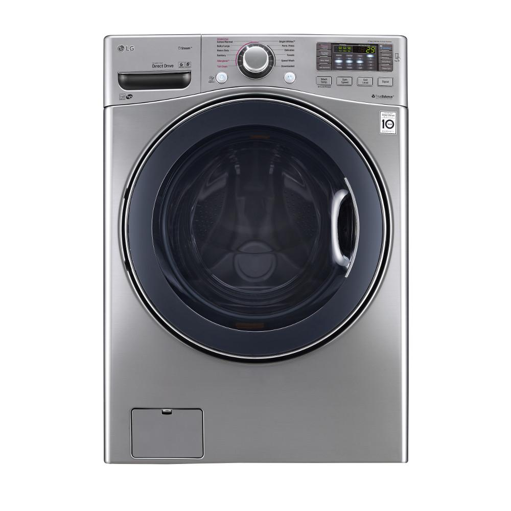 New Washer And Dryer Lg Electronics 4 5 Cu Ft High Efficiency Front Load Washer With Steam And Turbowash In Graphite Steel Energy Star