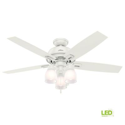 Hunter Osbourne 54 in LED Indoor Onyx Bengal Ceiling Fan-54066