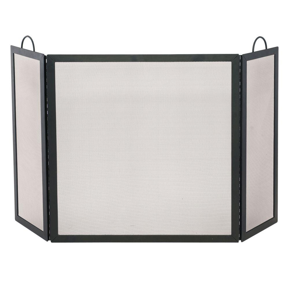 Small Fireplace Screens Under 30 Wide Uniflame Black Wrought Iron 3 Panel Fireplace Screen Medium