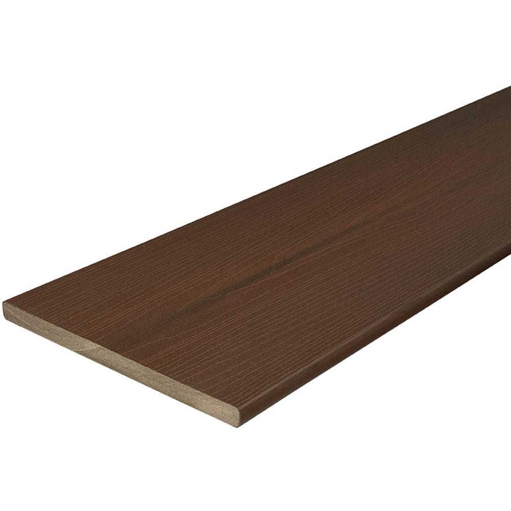 Fascia Board Fiberon Armorguard 3 4 In X 11 1 4 In X 8 Ft Brazilian Walnut Capped Composite Fascia Decking Board