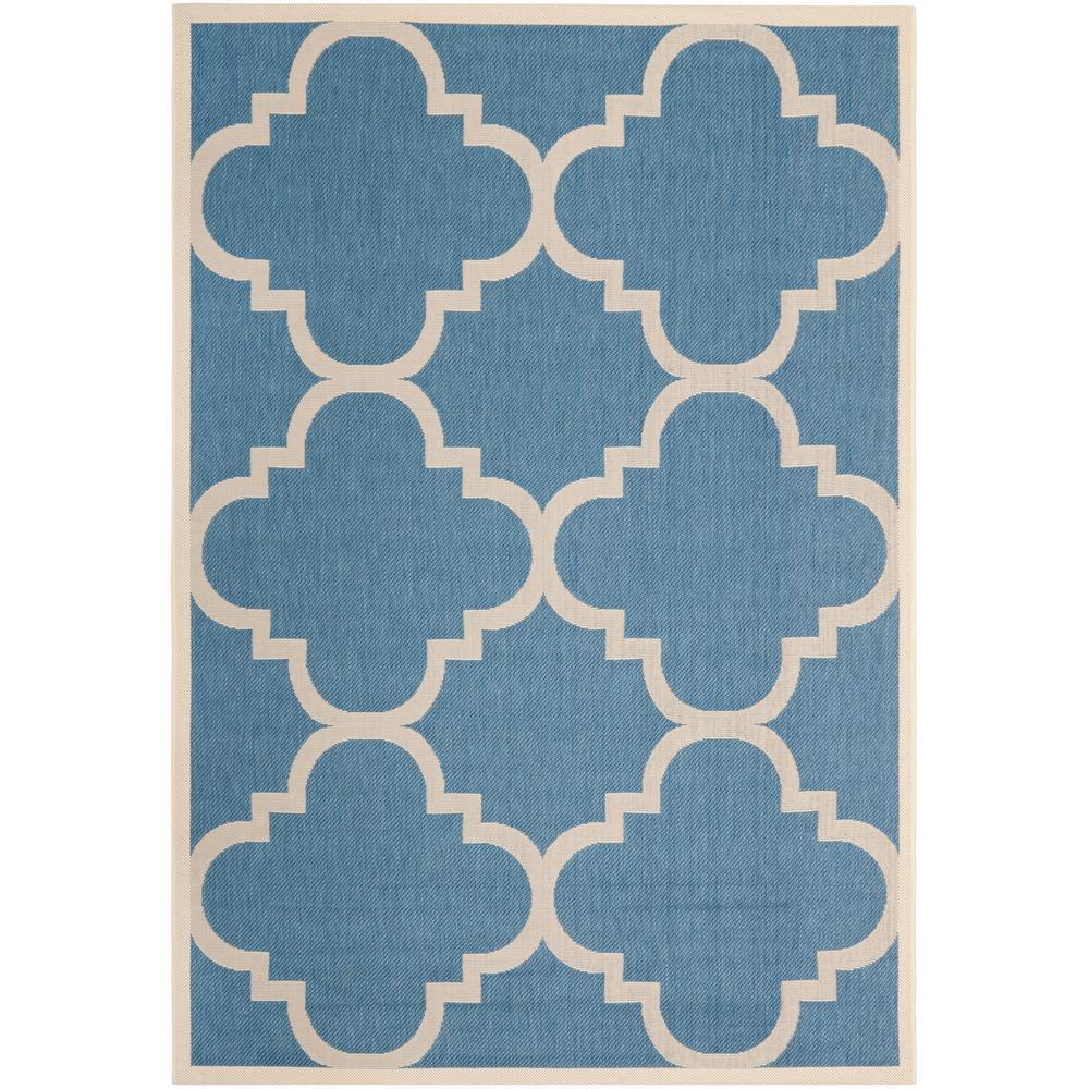 Reviews For Safavieh Courtyard Blue Beige 7 Ft X 10 Ft Indoor Outdoor Area Rug Cy6243 243 6 The Home Depot
