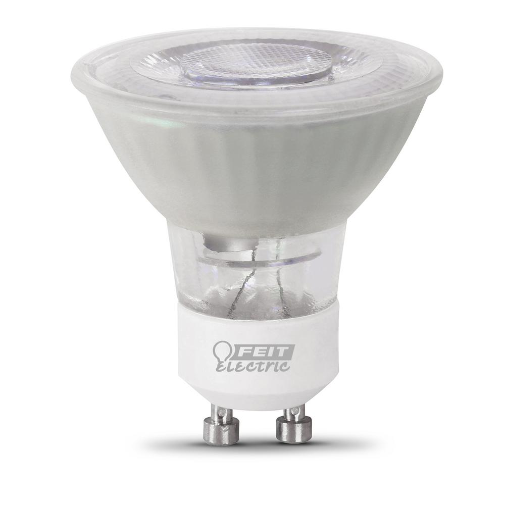 Ledlamp Gu10 Feit Electric 50 Watt Equivalent Mr16 Gu10 Dimmable Cec Title 20 Compliant Led 90 Cri Frosted Flood Light Bulb Daylight