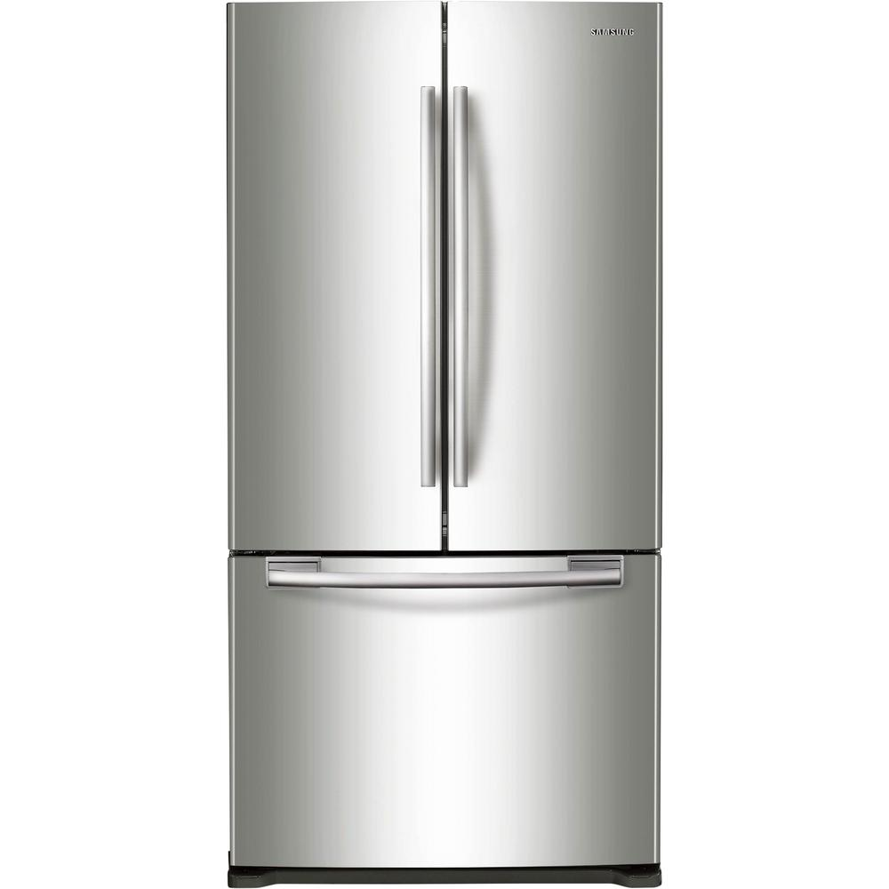 Home Depot Fridges Canada Samsung 33 In W 19 4 Cu Ft French Door Refrigerator In Stainless Steel