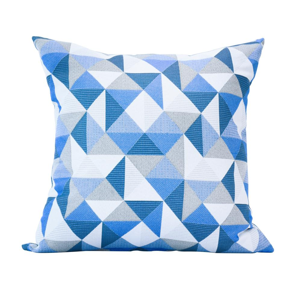 Lounge Throw Astella Ruskin Blue Square Accent Lounge Throw Pillow