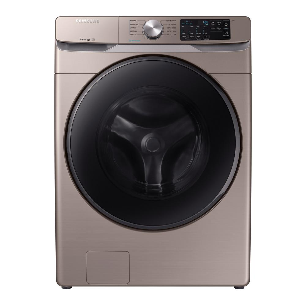 Samsung Front Load Washer Samsung 4 5 Cu Ft High Efficiency Champagne Front Load Washing Machine With Steam Energy Star