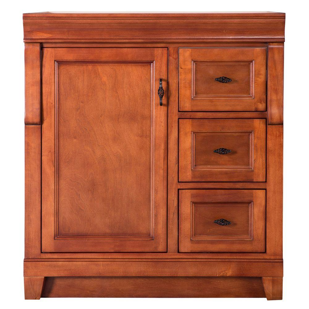 30 Vanity With Drawers Home Decorators Collection Naples 30 In W X 21 63 In D Vanity Cabinet Only In Warm Cinnamon With Right Hand Drawers