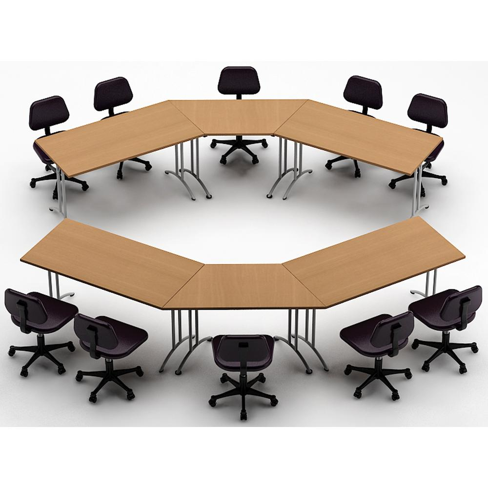 Meeting Room Tables Teamwork Tables 6 Piece Natural Beech Conference Tables Meeting Tables Seminar Tables Compact Space Maximum Collaboration