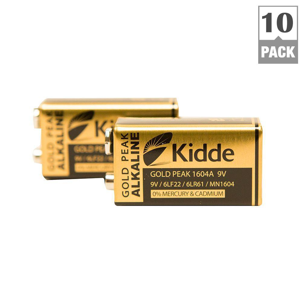 9 Volt Batterie Kidde 9 Volt Replacement Smoke Detector Battery 20 Pack