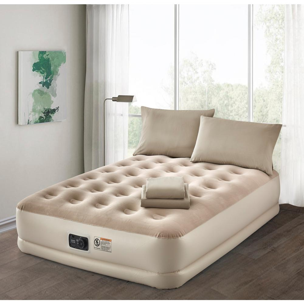 Air Mattress Frame Queen Guestroom Survival Kit Deluxe 16 In Queen Air Mattress With