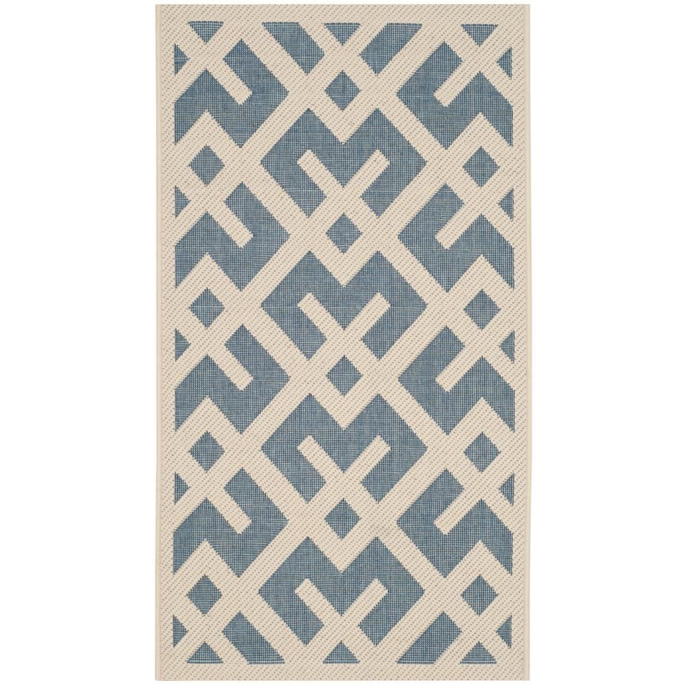 Safavieh Courtyard Safavieh Courtyard Blue Bone 2 Ft X 4 Ft Indoor Outdoor Area Rug