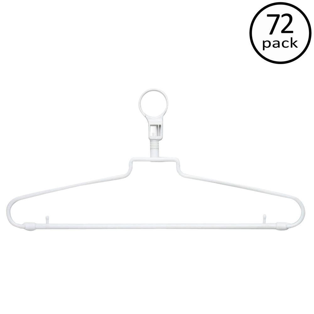 Loop Hanger Honey Can Do White Hotel Style Hangers With Security Loop 72 Pack