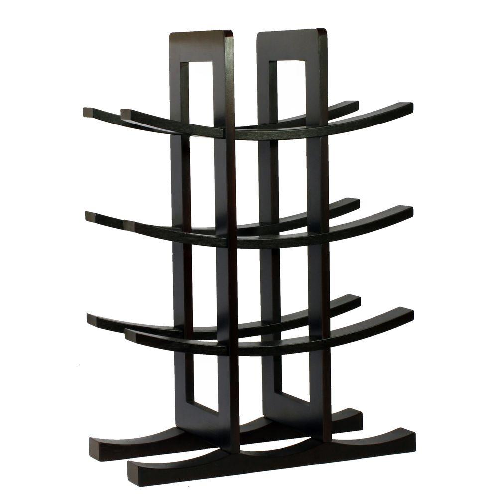 Small Wine Stand Oceanstar 12 Bottle Bamboo Countertop Wine Rack