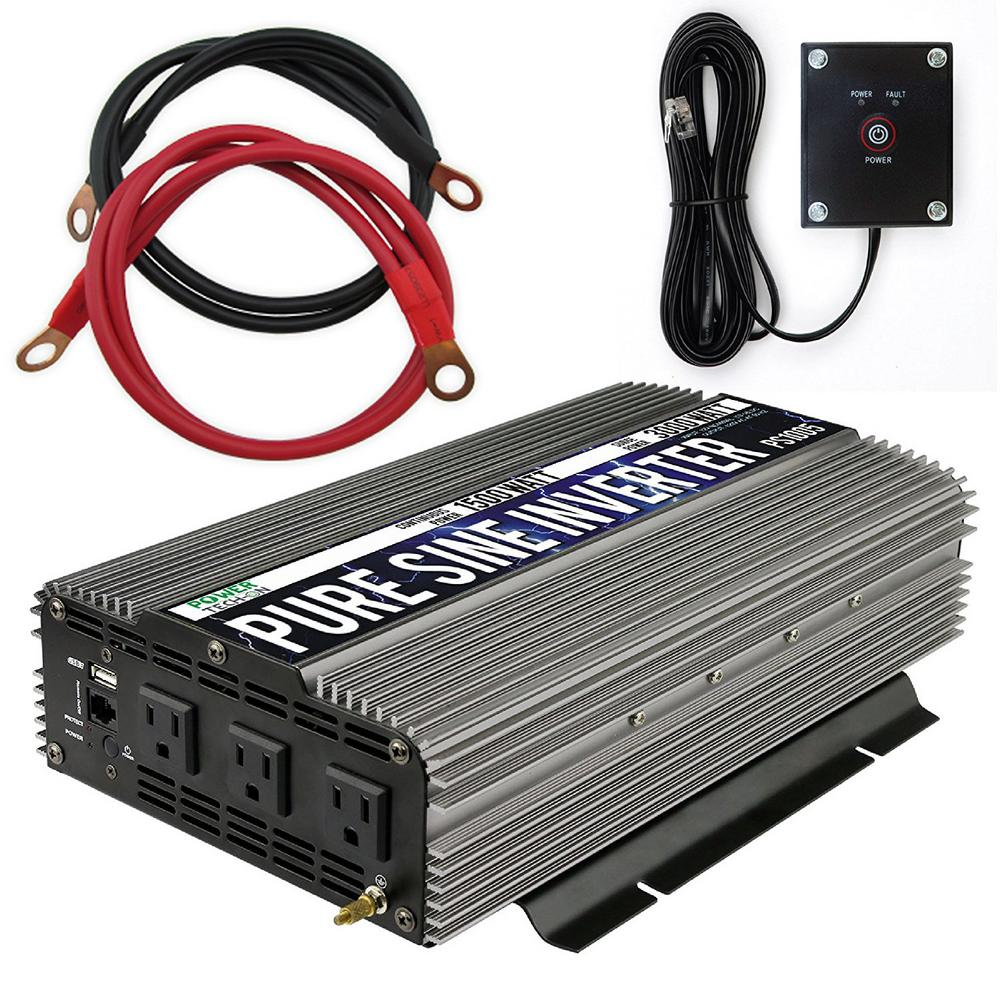 1000 Watt Pure Sine Wave Inverter Gowise Usa 1 500 Watt Continuous 3 000 Watt Peak Pure Sine Wave Inverter