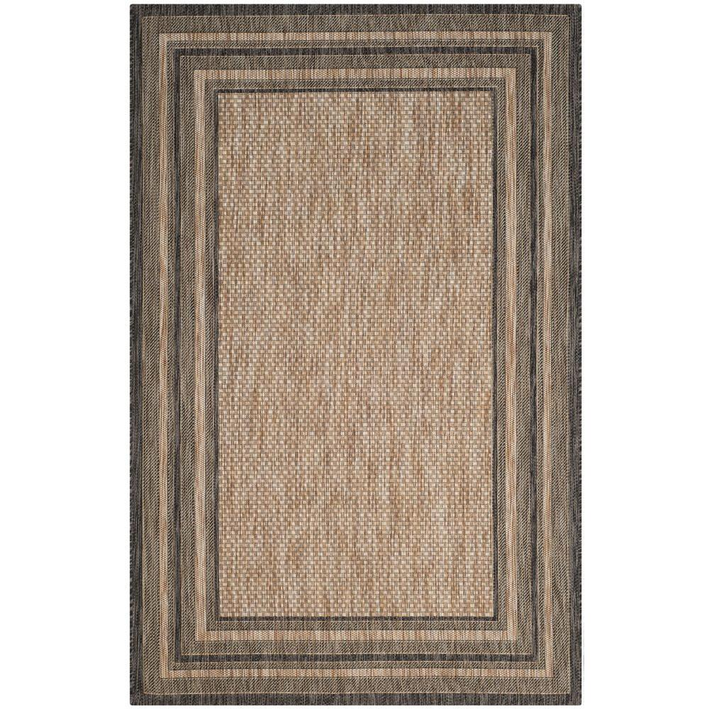 Safavieh Courtyard Safavieh Courtyard Natural Black 7 Ft X 10 Ft Indoor Outdoor Area Rug