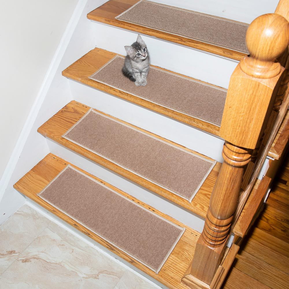 Model Escalier Ottomanson Escalier Collection Beige 8 5 In X 26 5 In Rubber Back Stair Tread Set Of 7
