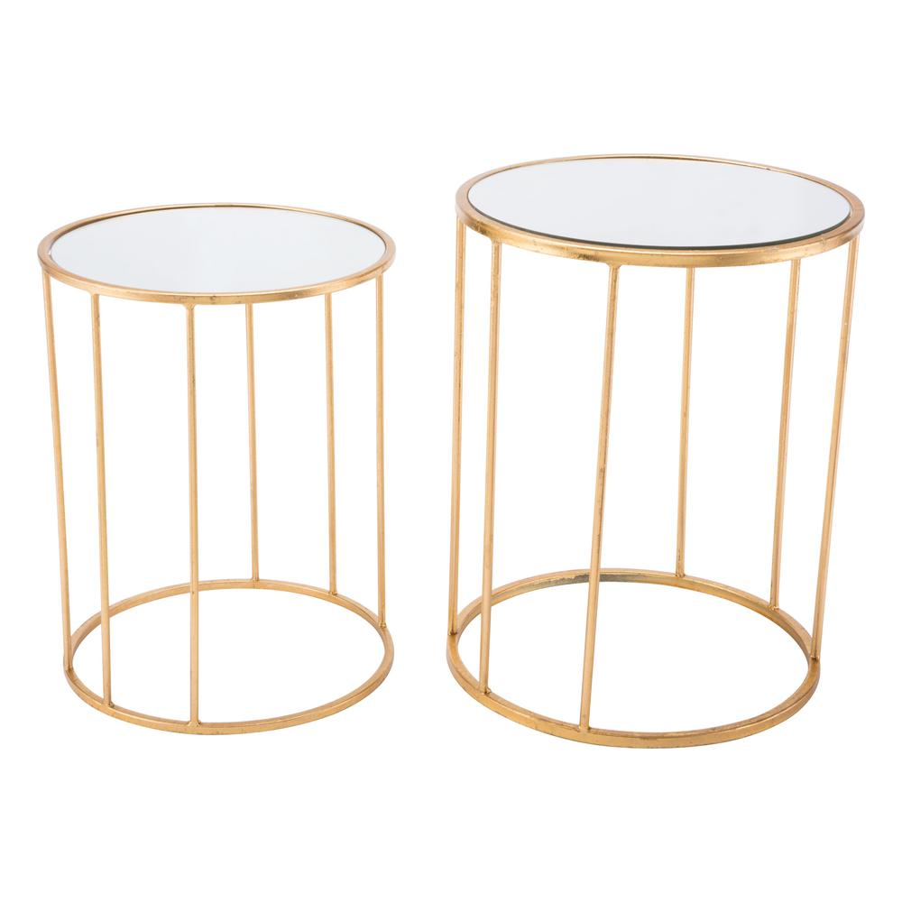 Gold Nesting Coffee Table Zuo Finita Gold Nesting Round Tables Set Of 2