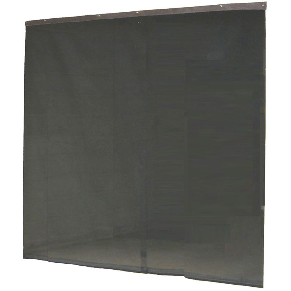 Garage Door Screen That Rolls Up Instant Screen 120 In X 96 In Black Garage Screen Door With Hardware And Roll Up Accessory