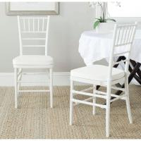 Safavieh Carly White Side Chair (Set of 2)-FOX8000B-SET2 ...