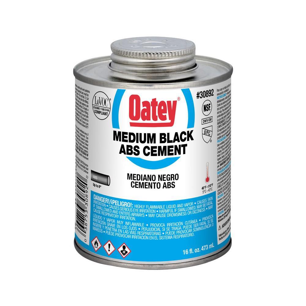 Abs Glue Oatey 16 Oz Abs Cement In Black