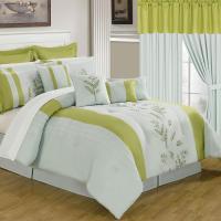 Lavish Home Maria Yellow 24-Piece Queen Comforter Set-66 ...