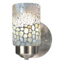 Springdale Lighting Alps 1-Light Brushed Nickel Mosaic ...