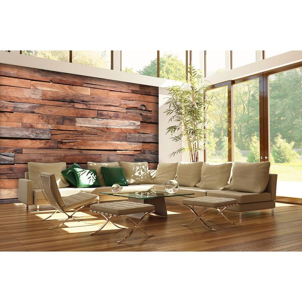 Wall Decoration Murale 100 In H X 144 In W Reclaimed Wood Wall Mural