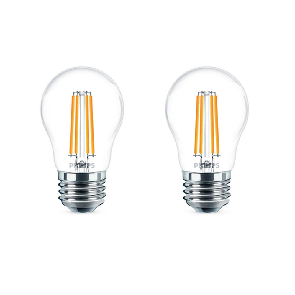 Edison Lampe Led Philips 25 Watt Equivalent A15 Indoor Outdoor Clear Glass Edison Led Light Bulb Amber Warm White 2200k