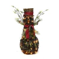Gemmy Lighted Dog Outdoor Christmas Decoration With White ...