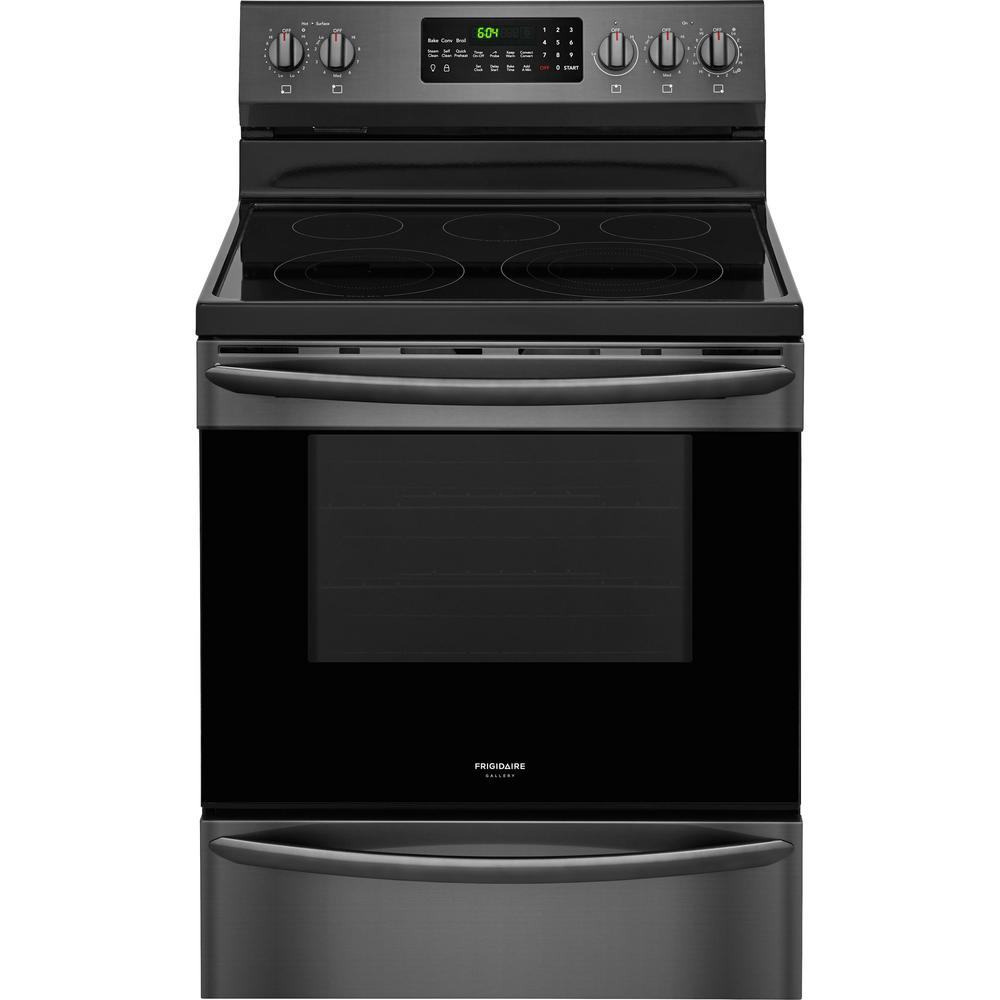 Frigidaire Stove Parts Canada Frigidaire Gallery 5 7 Cu Ft Electric Range With Convection Self Cleaning Oven In Black Stainless Steel