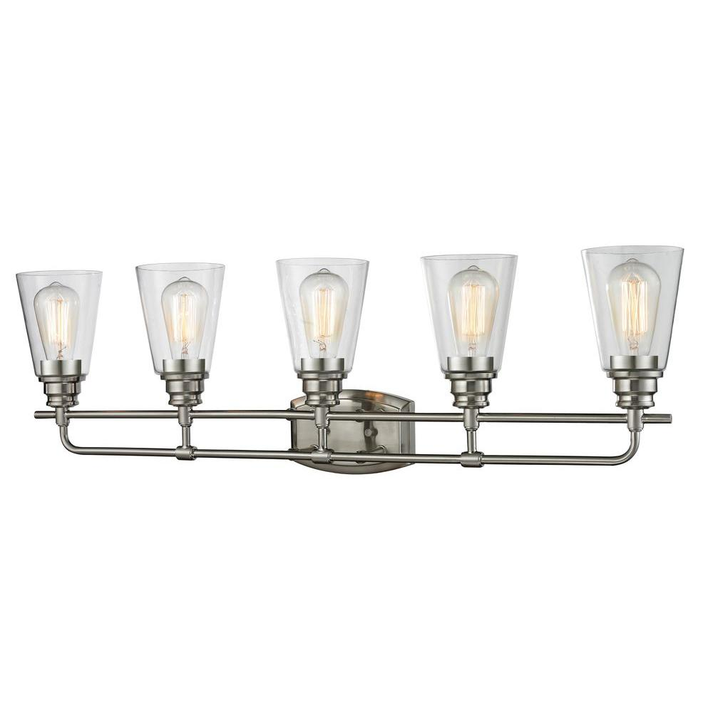 8 light vanity fixture brushed nickel