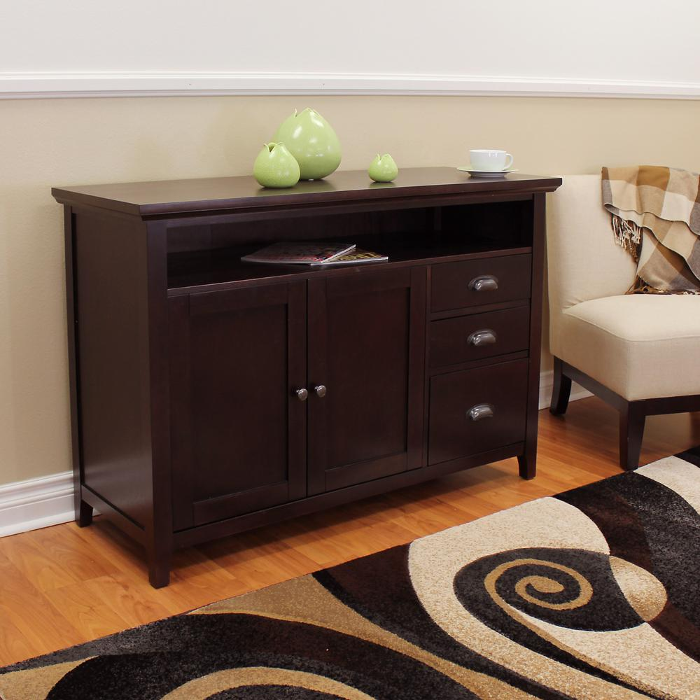Sideboard Buffet Espresso Donnieann Lindendale Espresso Sofa Buffet Table 707152 The Home Depot