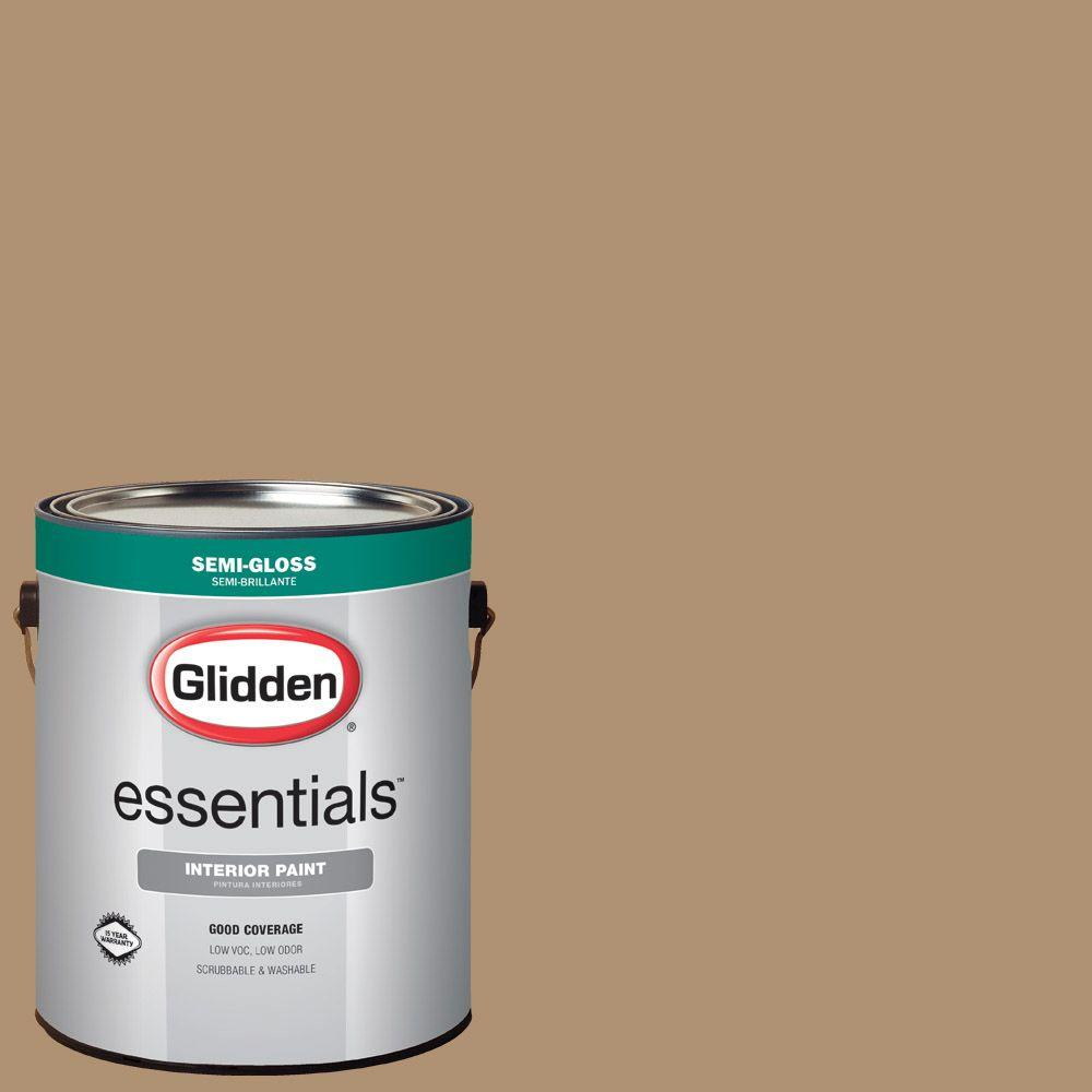 Mustard Color Paint For Kitchen Glidden Essentials 1 Gal Hdgwn20d Hot Mustard Seed Semi Gloss Interior Paint