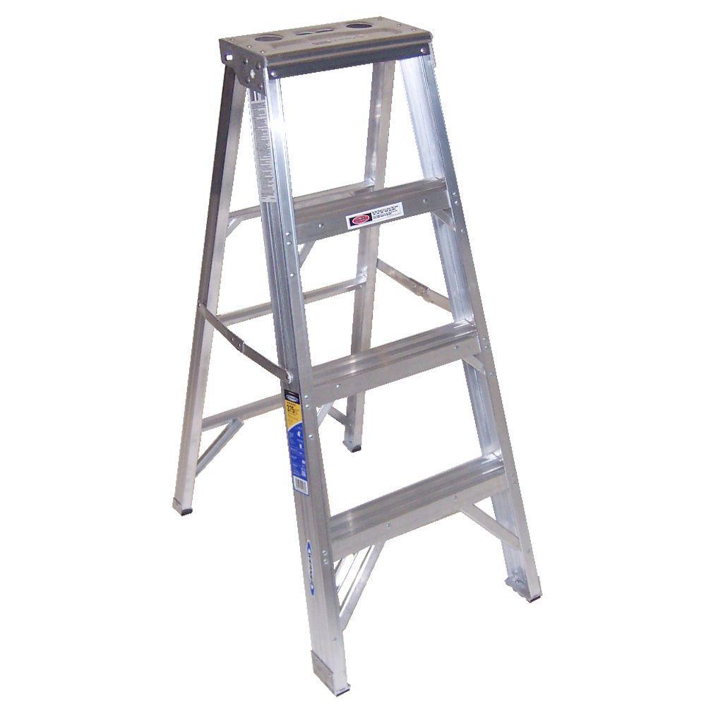 Werner 4 Ft Aluminum Step Ladder With 375 Lb Load