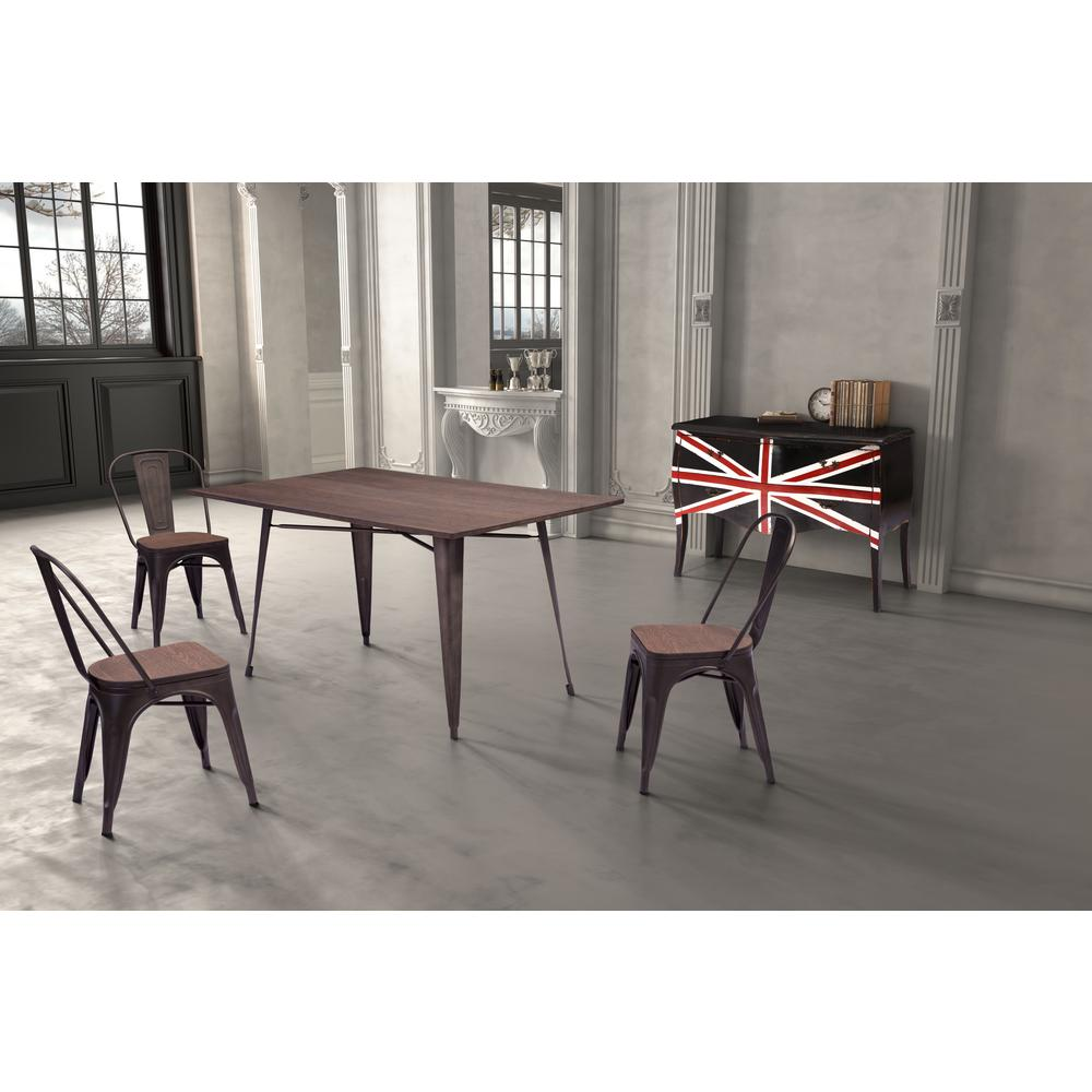Dining Room Furniture Rustic Titus Rectangular Dining Table Rustic Wood