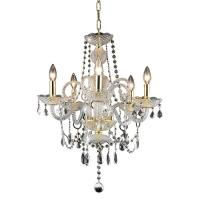 Elegant Lighting 5-Light Gold Chandelier with Clear ...