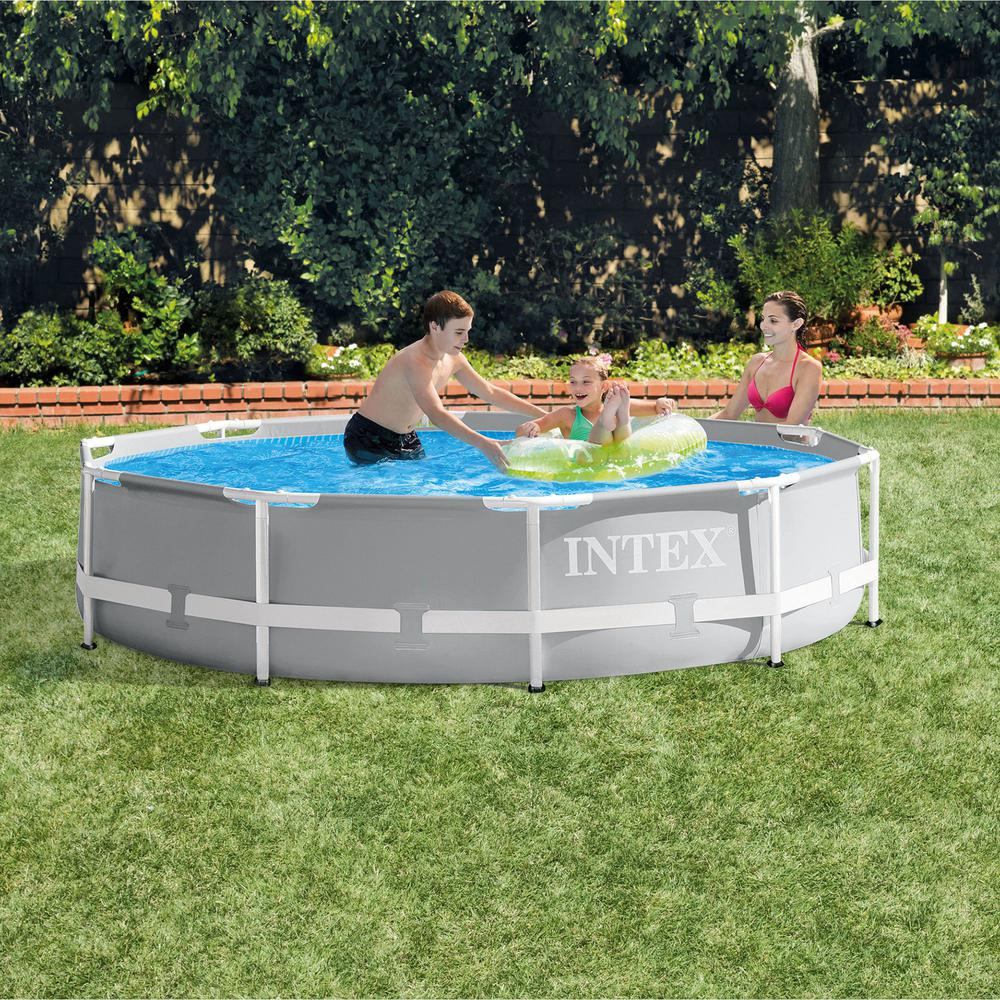 Intex Vs Bestway Review Intex Intex 10 Ft X 30 In Prism Frame Steel Above Ground Outdoor Swimming Pool
